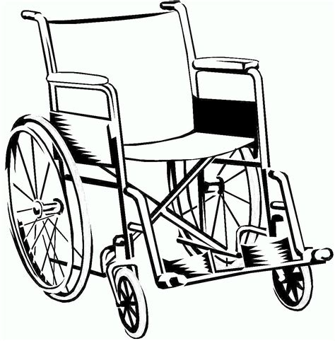 Wheelchair Line Drawings